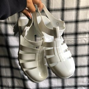 Forever21 Jelly Heeled Sandals